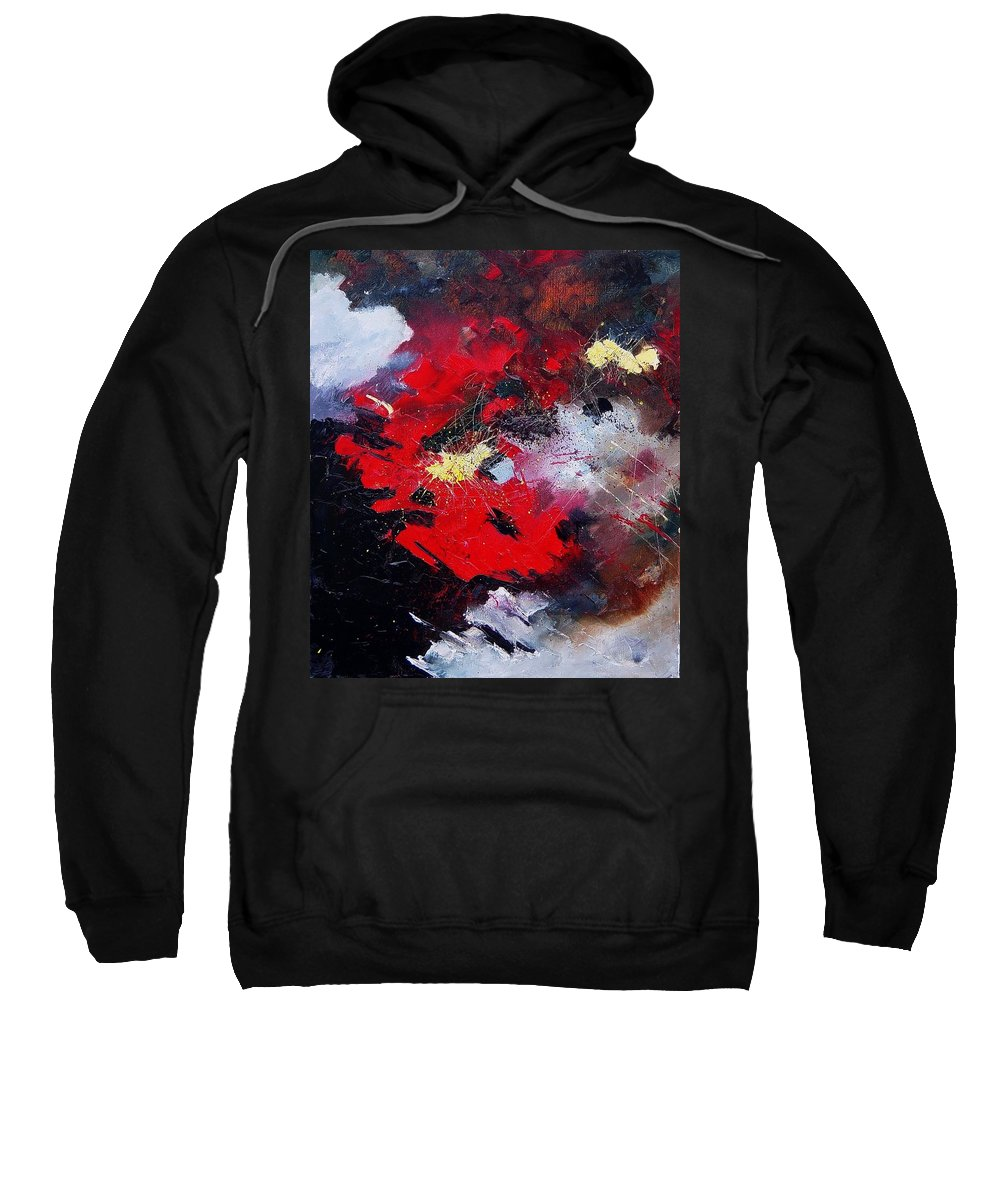 Abstract Sweatshirt featuring the painting Abstract070406 by Pol Ledent