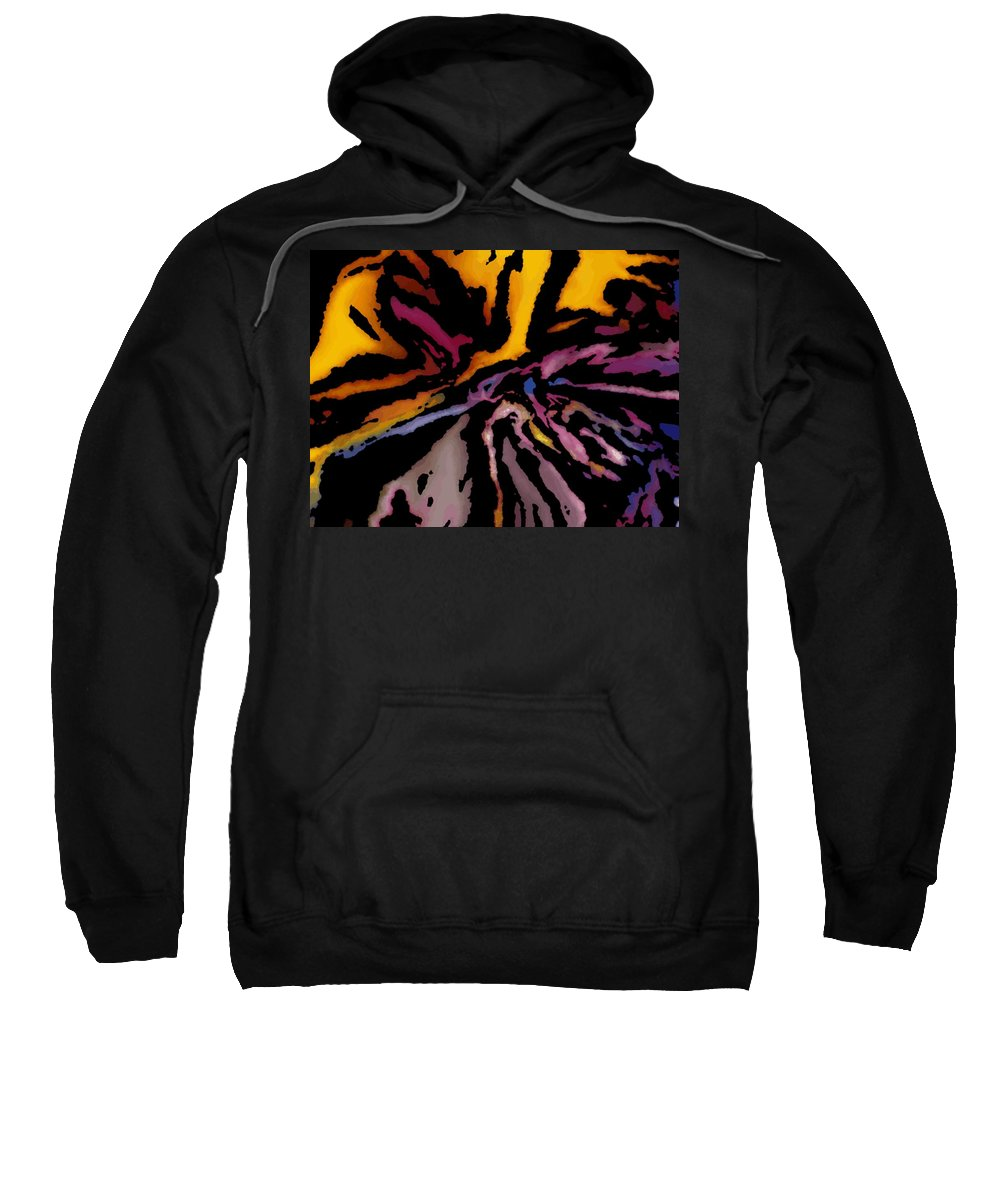 Abstract Sweatshirt featuring the digital art Abstract309g by David Lane