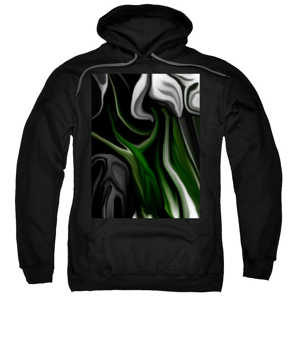 Abstract Sweatshirt featuring the digital art Abstract309h by David Lane