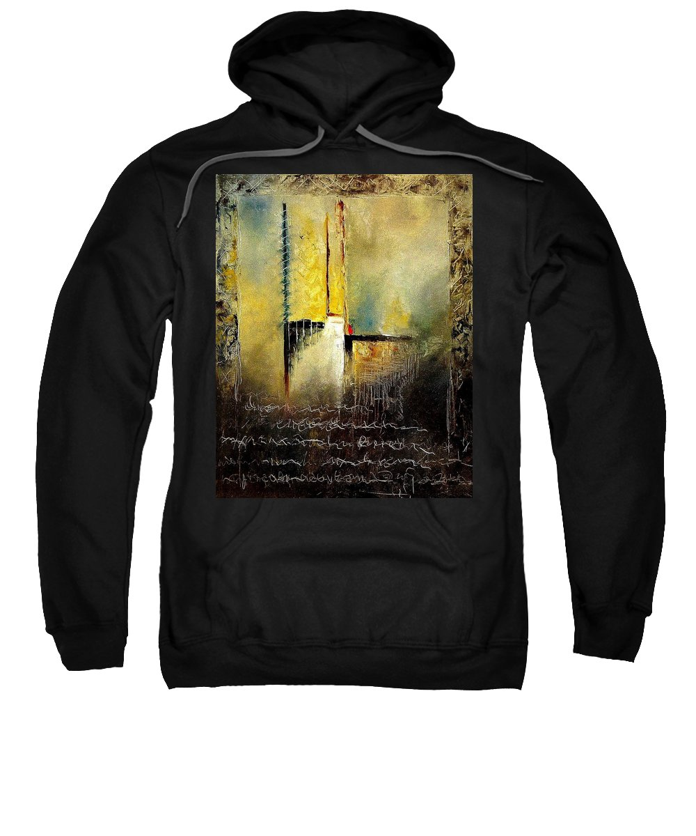 Abstract Sweatshirt featuring the painting Abstrct 3 by Pol Ledent