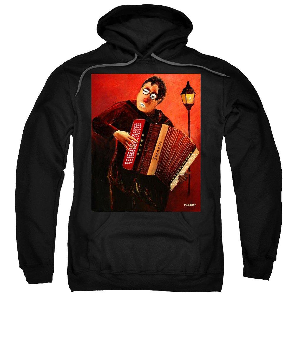 Music Sweatshirt featuring the print Accordeon by Pol Ledent