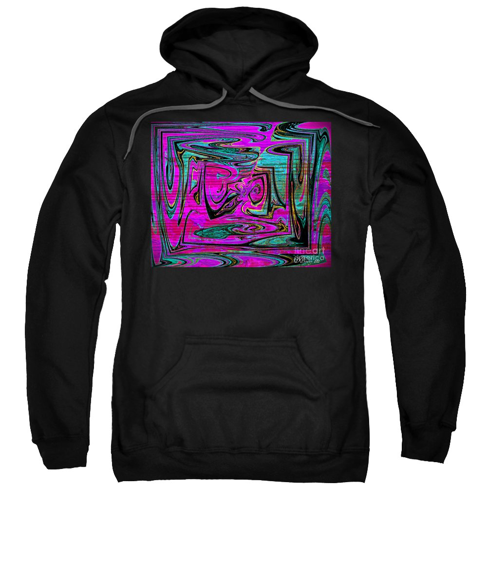 Abstract Art Sweatshirt featuring the digital art Ace In The Hole by Donna Bentley
