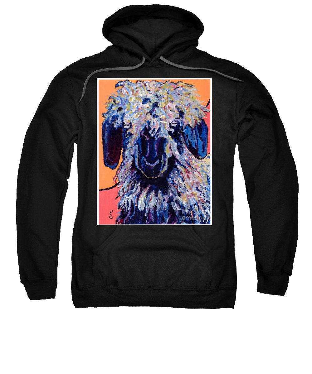 Goat Print Sweatshirt featuring the painting Adelita  by Pat Saunders-White