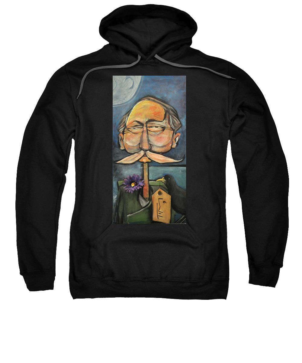 Bird Sweatshirt featuring the painting Admiral Bird by Tim Nyberg