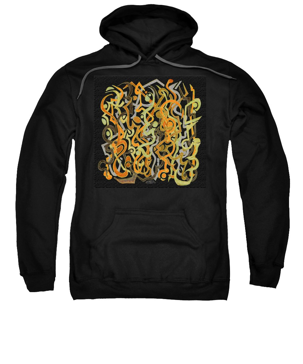 Abstract Sweatshirt featuring the digital art African Grass Fire by Mark Sellers