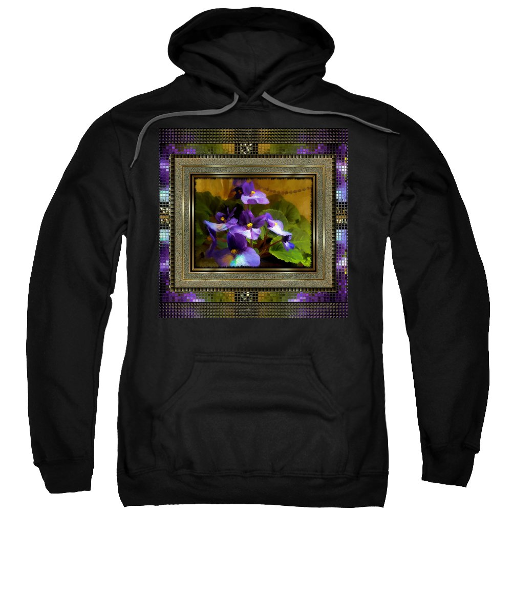 African Violet Sweatshirt featuring the painting African Violet by Susan Kinney