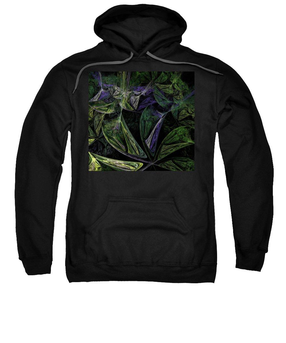 Digital Painting Sweatshirt featuring the digital art Afro-violet Feeling by David Lane