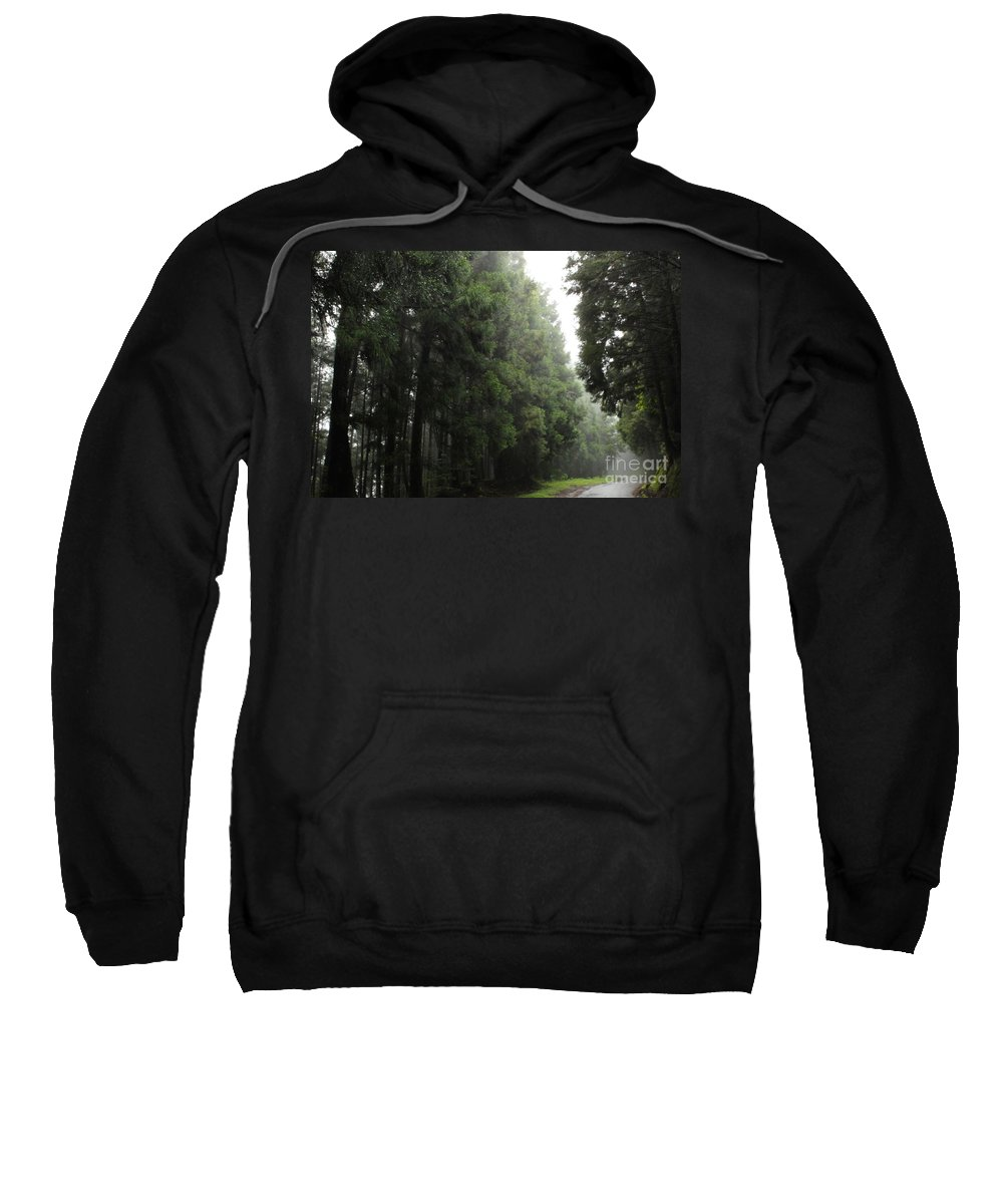 Forest Sweatshirt featuring the photograph After Rain by MingTa Li