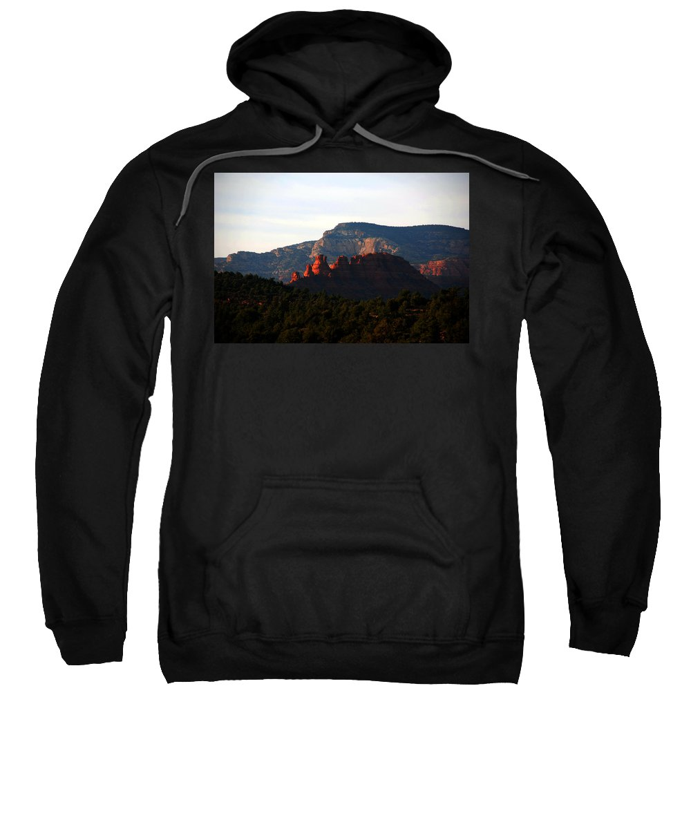 Photography Sweatshirt featuring the photograph After Sunset In Sedona by Susanne Van Hulst