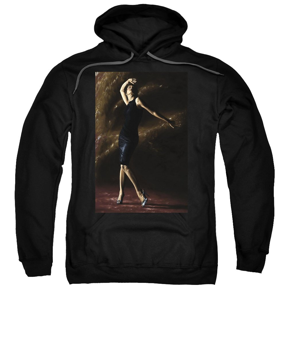 Dance Sweatshirt featuring the painting After the Dance by Richard Young