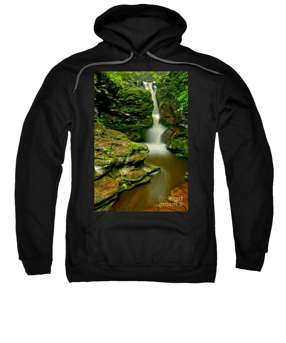 Adams Falls Sweatshirt featuring the photograph Afternoon At Adams Falls by Adam Jewell