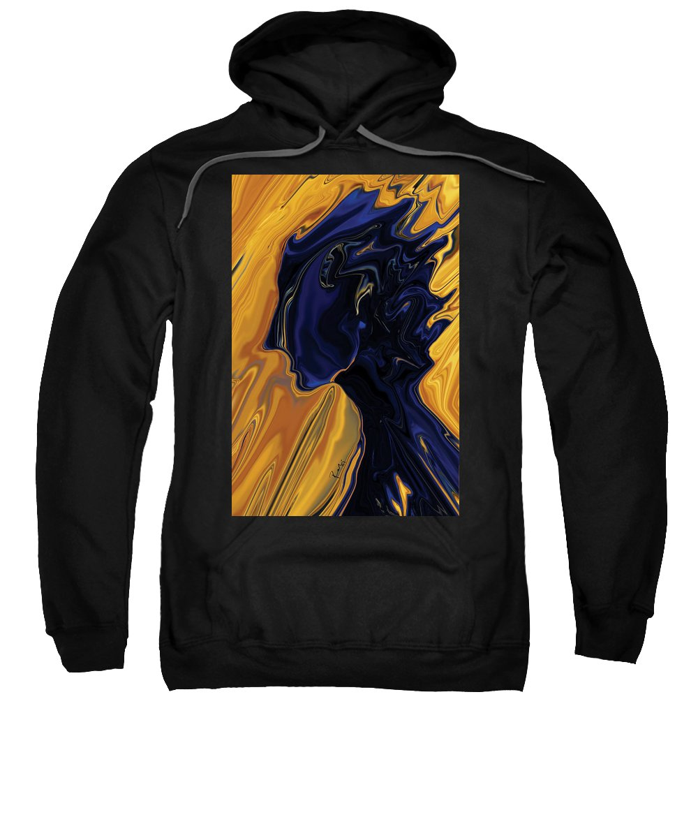 Abstract Sweatshirt featuring the digital art Against The Wind by Rabi Khan