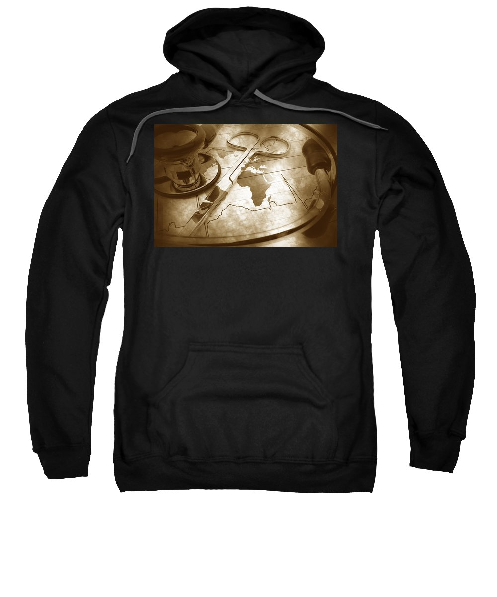 Map Sweatshirt featuring the photograph Aged Medical Tools by Phill Petrovic