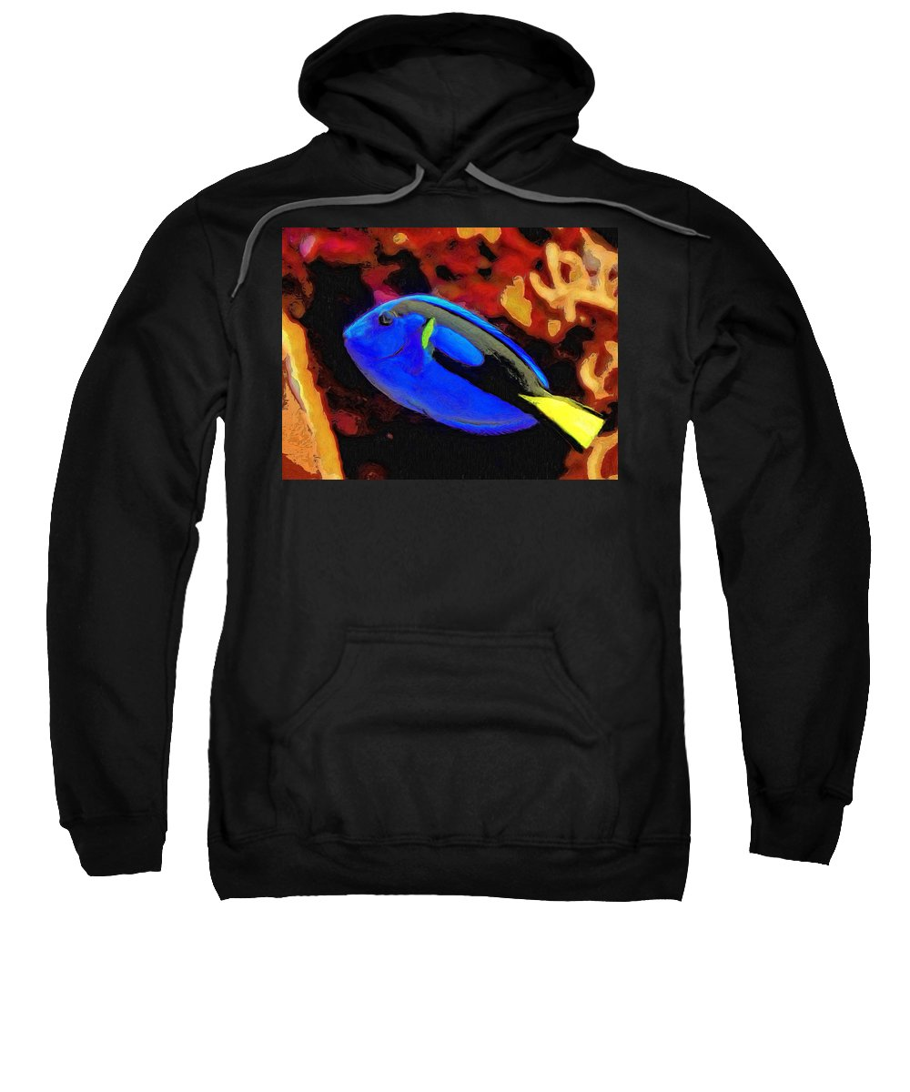 Fish Sweatshirt featuring the painting Agnes by Dominic Piperata