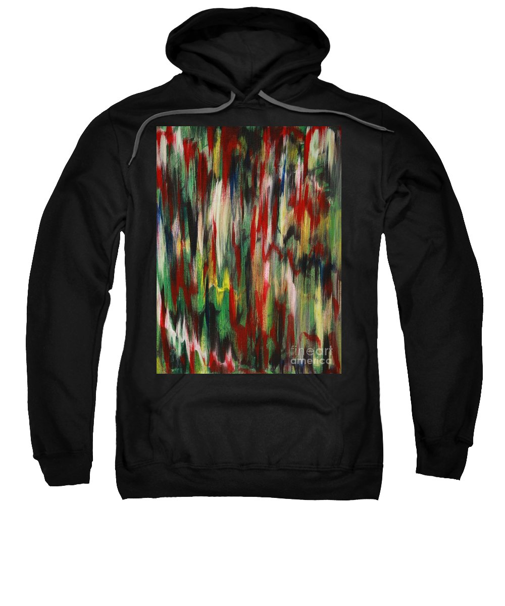 Abstract Sweatshirt featuring the painting Agony by Jacqueline Athmann