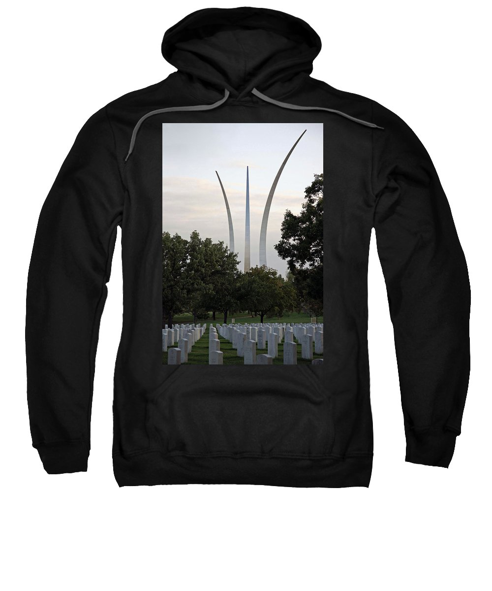 Air Sweatshirt featuring the photograph Air Force Memorial by Cora Wandel