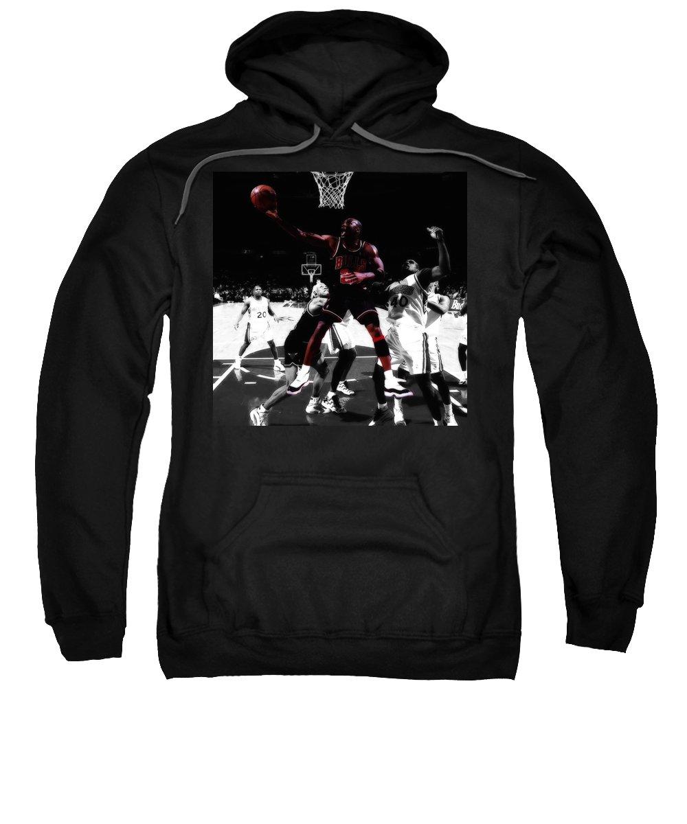 Michael Jordan Sweatshirt featuring the digital art Air Jordan Easy II by Brian Reaves