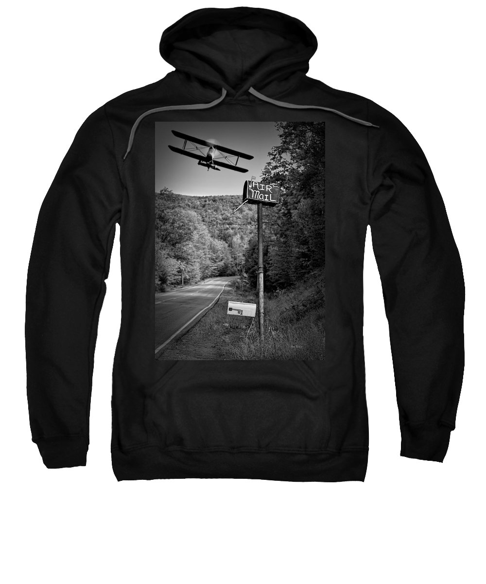 Landscape Sweatshirt featuring the photograph Air Mail Delivery Maine Style by Bob Orsillo