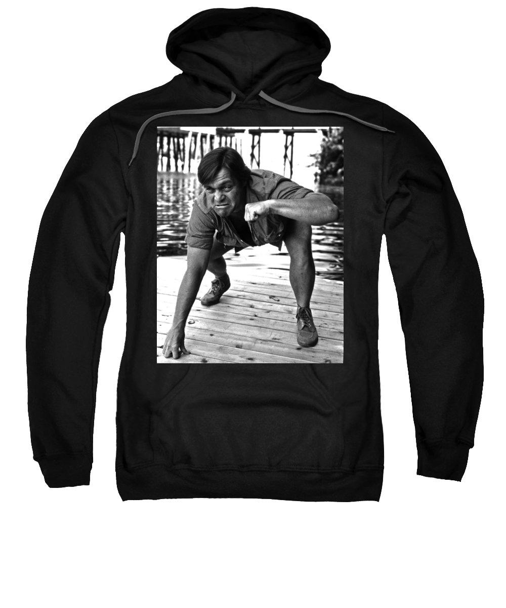 Portrait Sweatshirt featuring the photograph Alan Mathias by Lee Santa