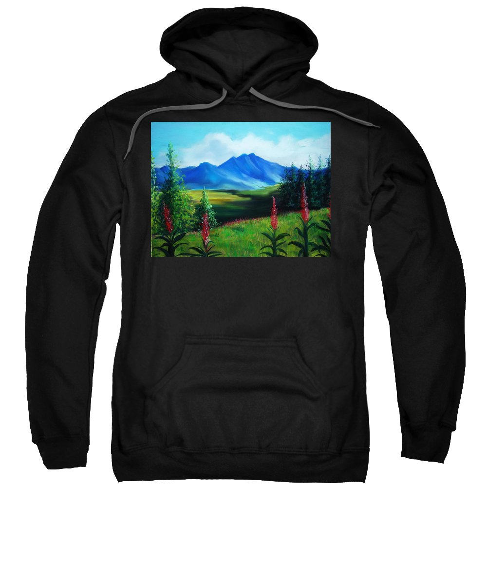 Alaska Sweatshirt featuring the pastel Alaska by Melinda Etzold