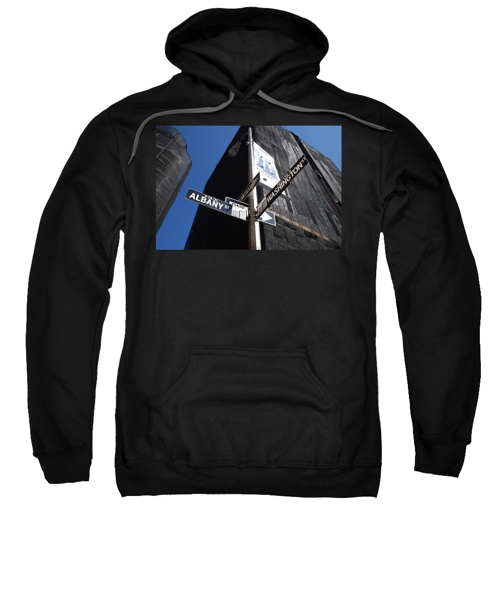 Architecture Sweatshirt featuring the photograph Albany And Washington by Rob Hans