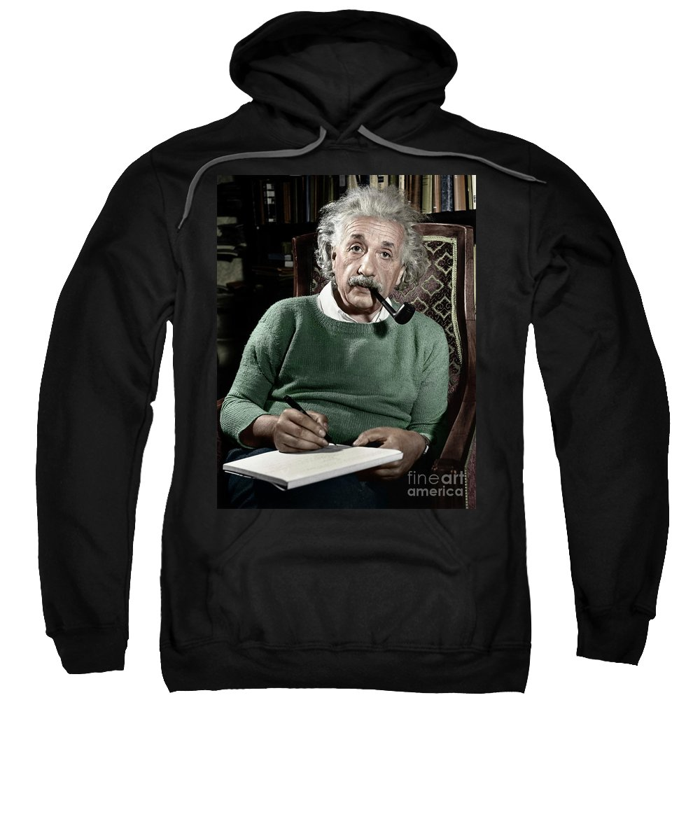 1940 Sweatshirt featuring the photograph Albert Einstein by Granger