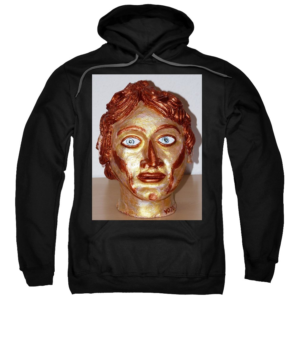 Alexander Sweatshirt featuring the sculpture Alexander The Great by Valerie Ornstein
