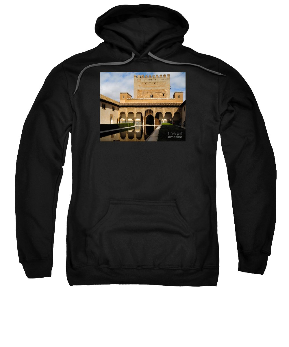 Spain Sweatshirt featuring the photograph Alhambra Palace Granada Spain by Kenneth Lempert
