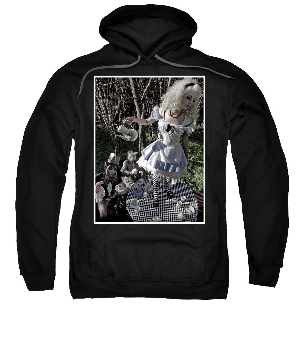Alice In Wonderland Sweatshirt featuring the photograph Alice And Friends 1 by Kelly Jade King
