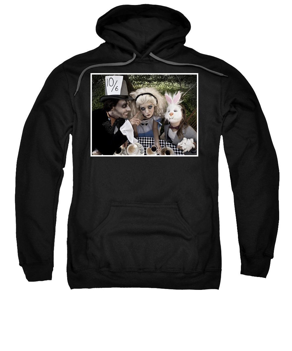 Alice In Wonderland Sweatshirt featuring the photograph Alice And Friends 2 by Kelly Jade King