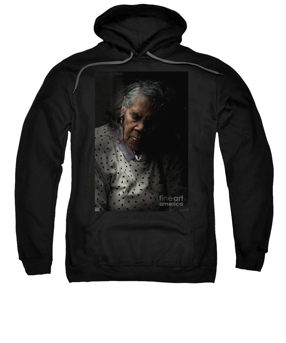 Portrait Sweatshirt featuring the photograph Alice by Avalon Fine Art Photography