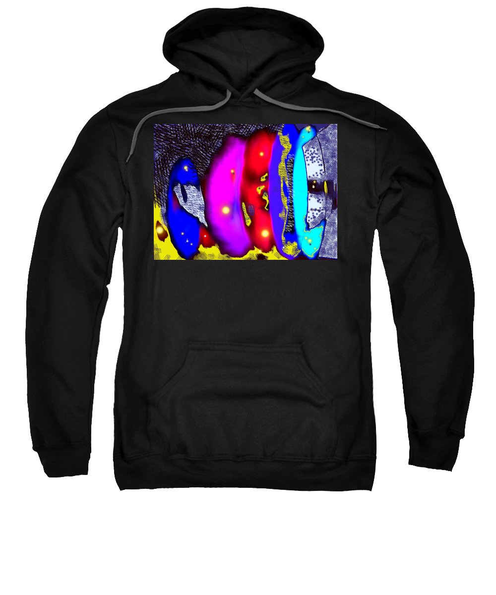 Abstrct Sweatshirt featuring the digital art Alien Art Forms by Ian MacDonald