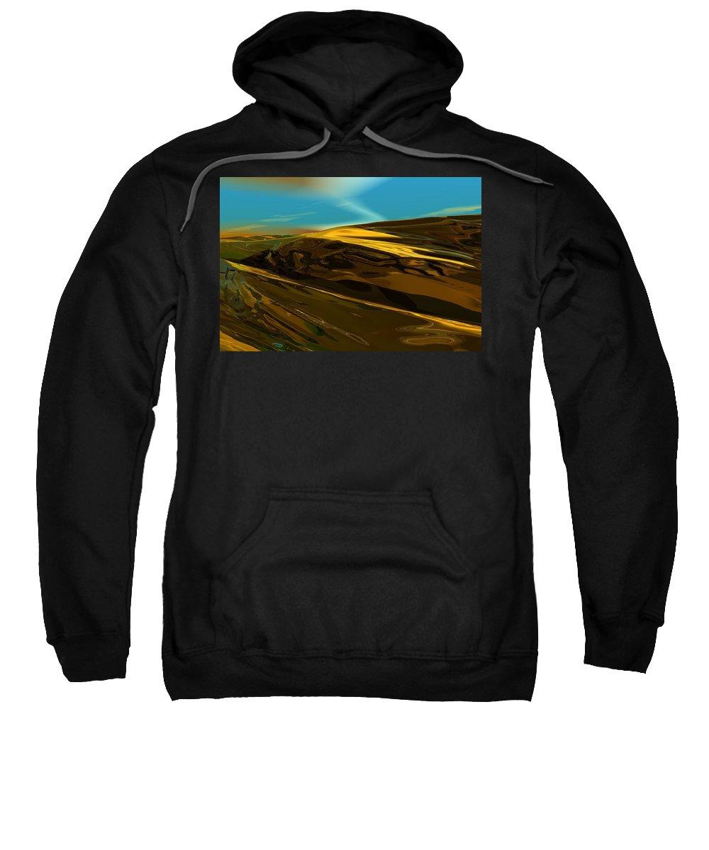 Landscape Sweatshirt featuring the digital art Alien Landscape 2-28-09 by David Lane