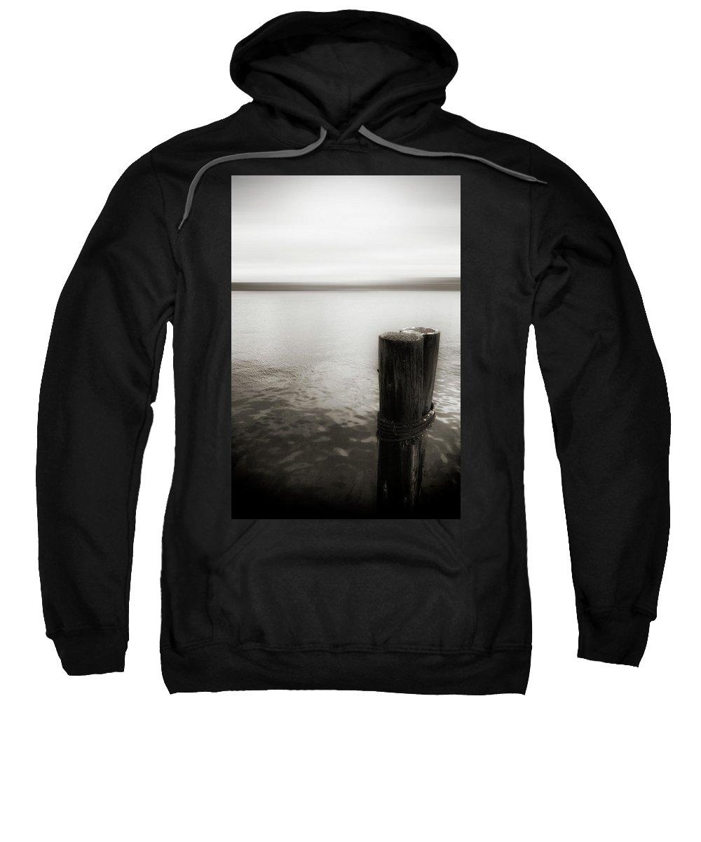 Usa Sweatshirt featuring the photograph Alki Piling 2 by Savanah Plank