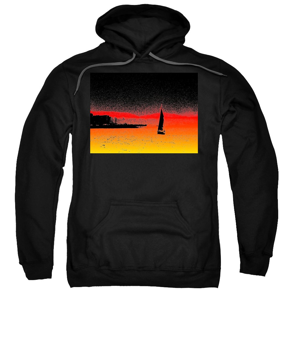 Seattle Sweatshirt featuring the photograph Alki Sail by Tim Allen