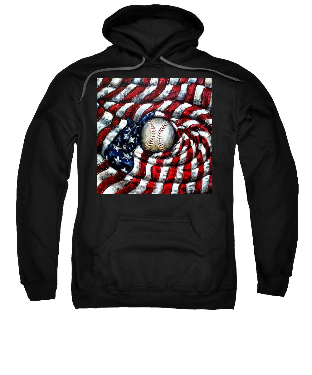 America Sweatshirt featuring the painting All American by Shana Rowe Jackson