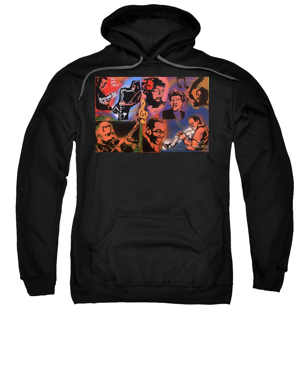 Jazz Sweatshirt featuring the painting All Dat Jazz by Tony B Conscious