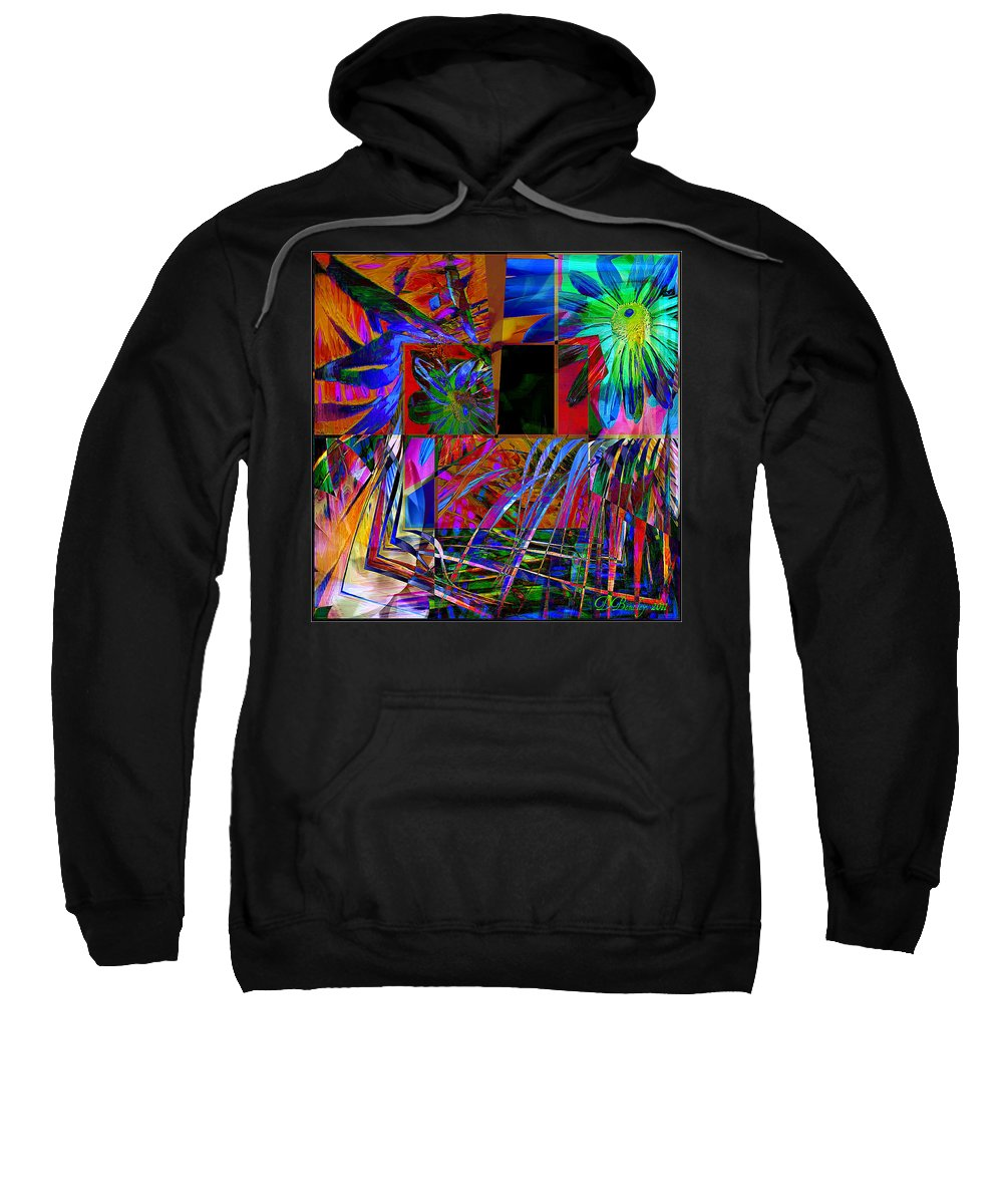 Abstract Art Sweatshirt featuring the photograph All Mixed Up by Donna Bentley