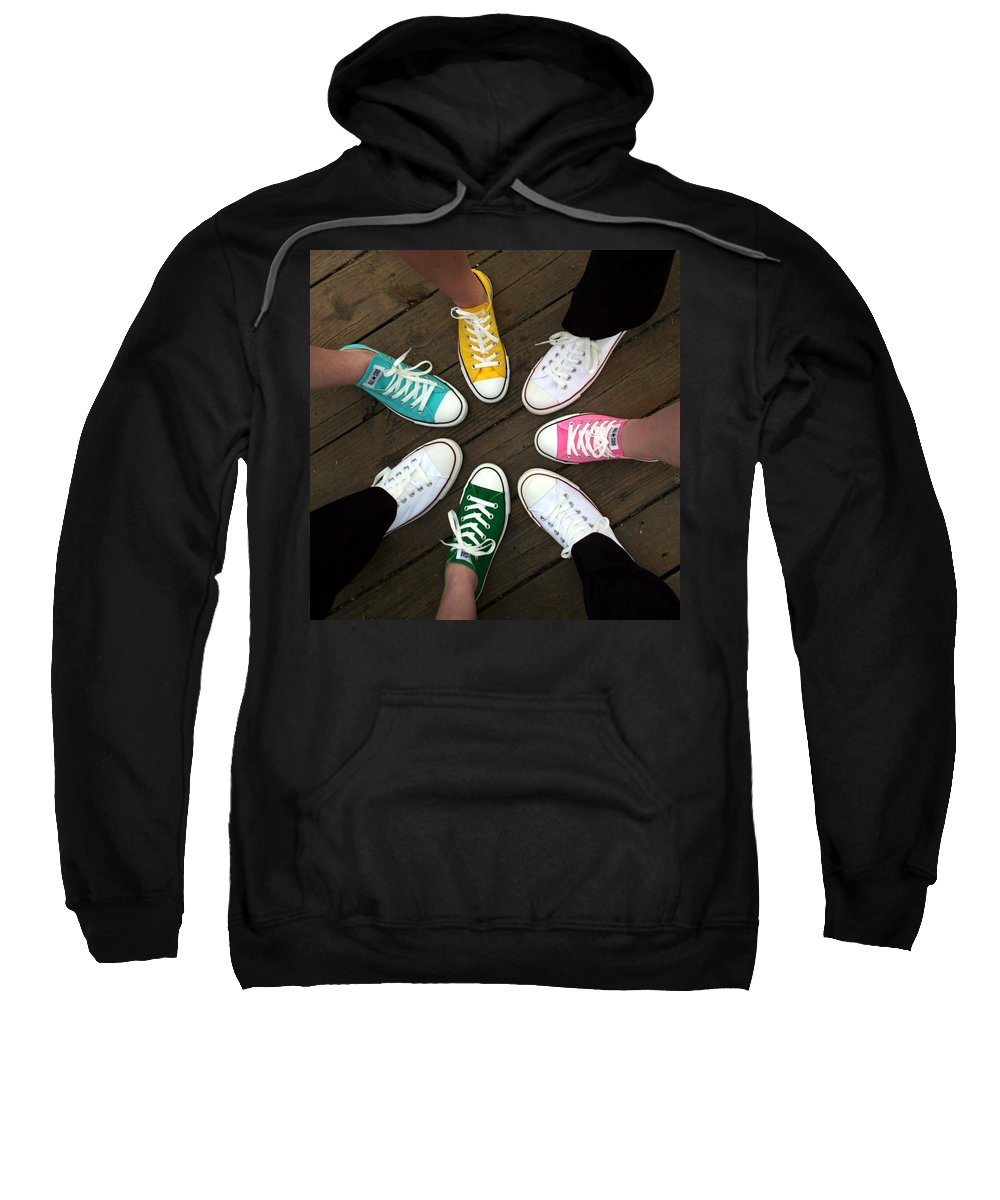 Sneakers Sweatshirt featuring the photograph All Stars Ready For The Prom by Rebecca Smith