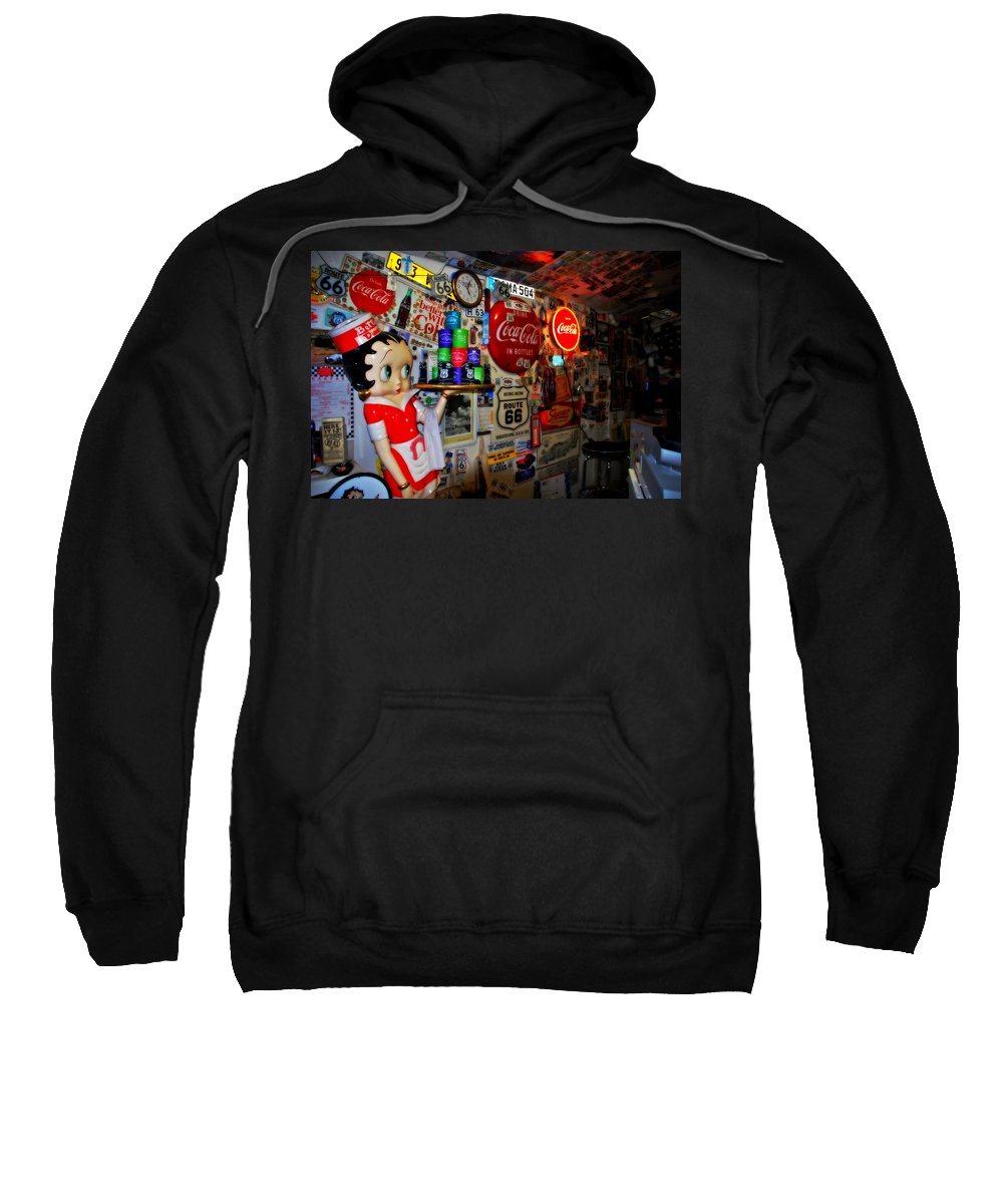Route 66 Sweatshirt featuring the photograph All The Souvenirs Of Route 66 by Susanne Van Hulst