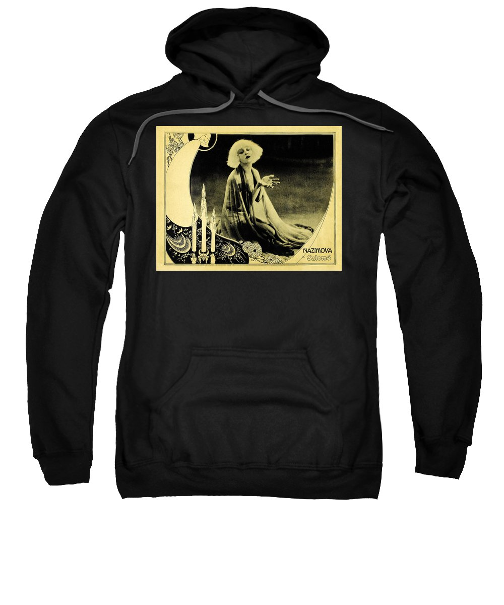 Movies Sweatshirt featuring the photograph Alla Nazimova by Not known