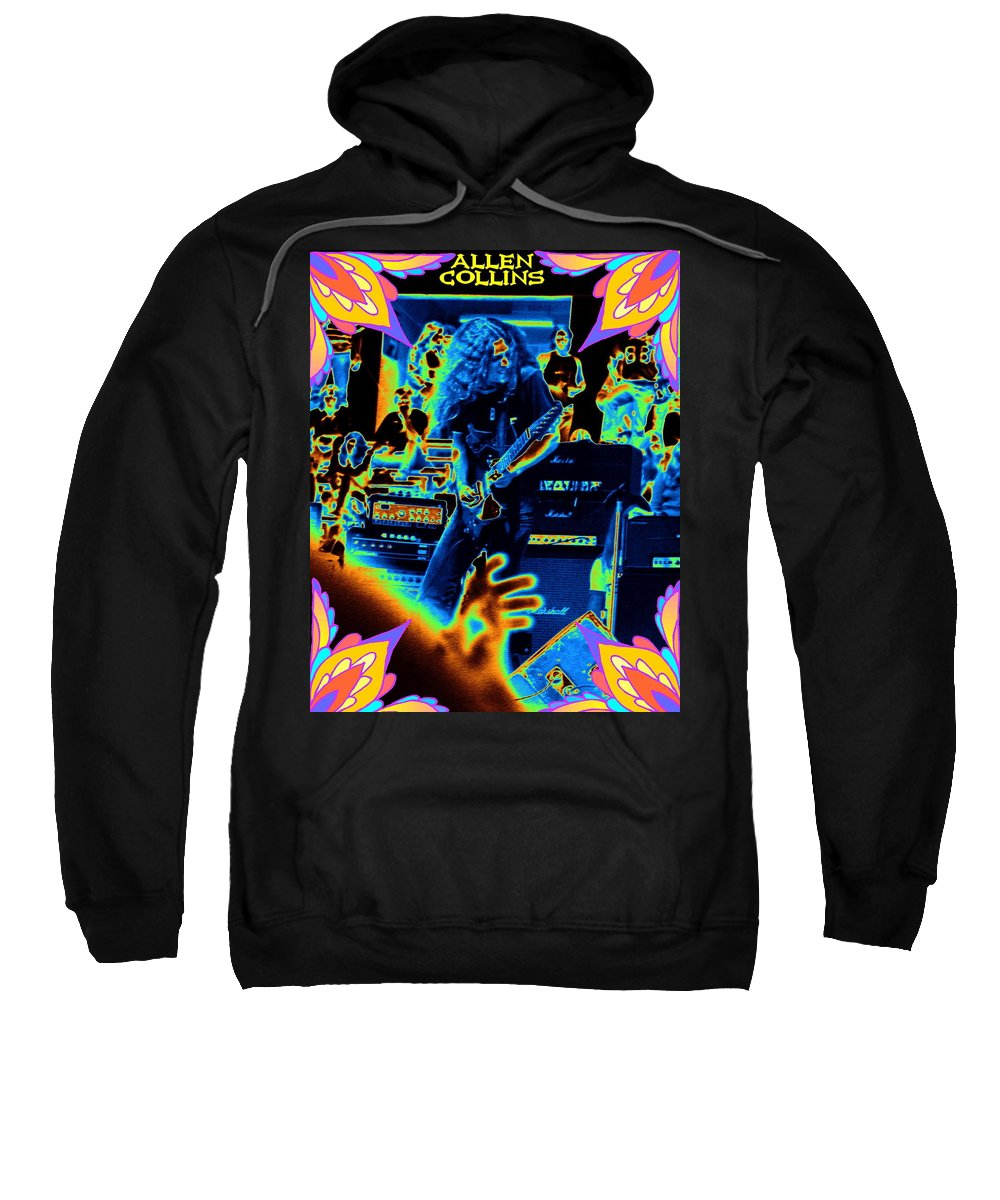 Allen Collins Sweatshirt featuring the photograph Allen Cosmic Free Bird Oakland 2 by Ben Upham