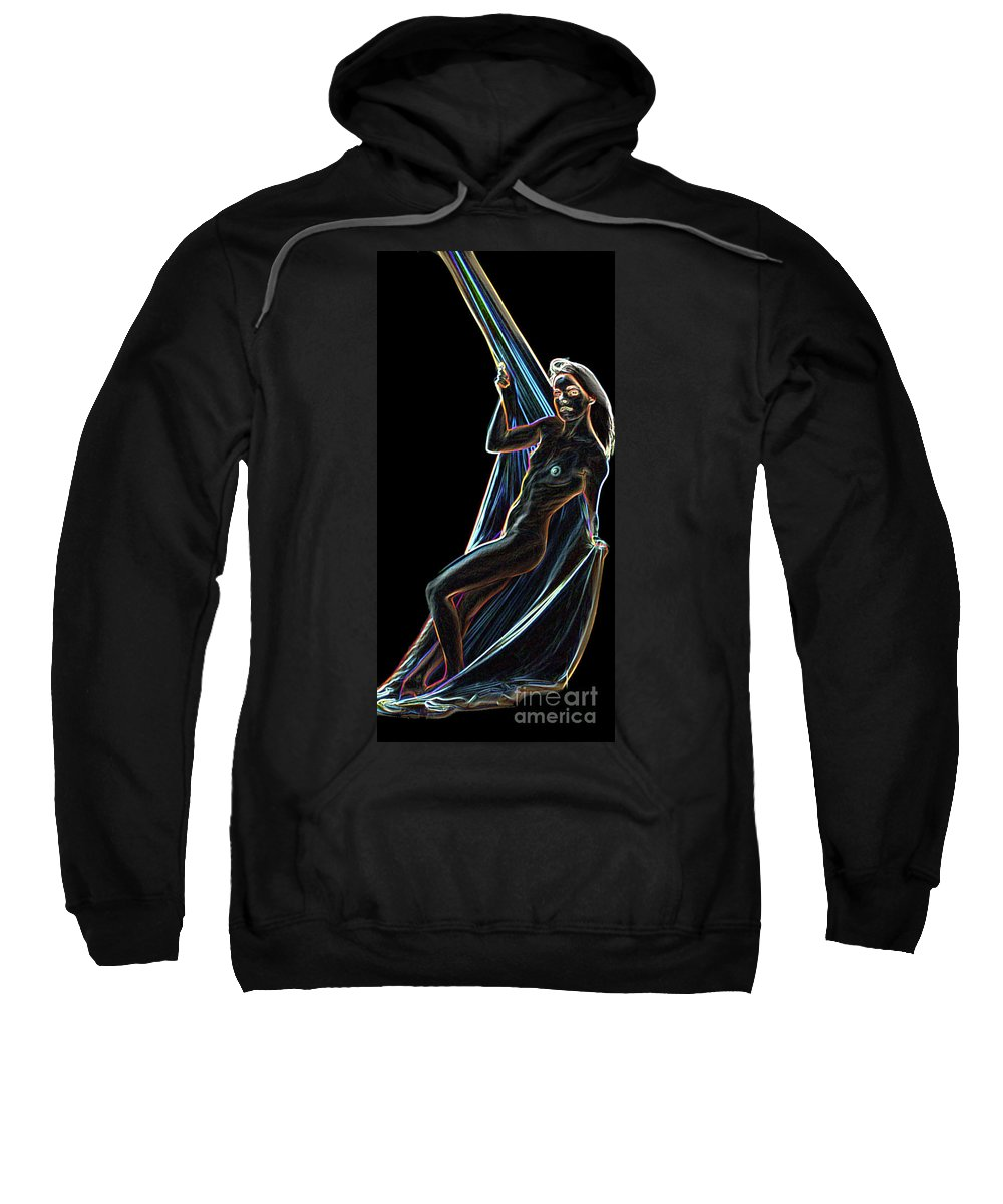 Lights Sweatshirt featuring the painting Allure by Thomas Oliver