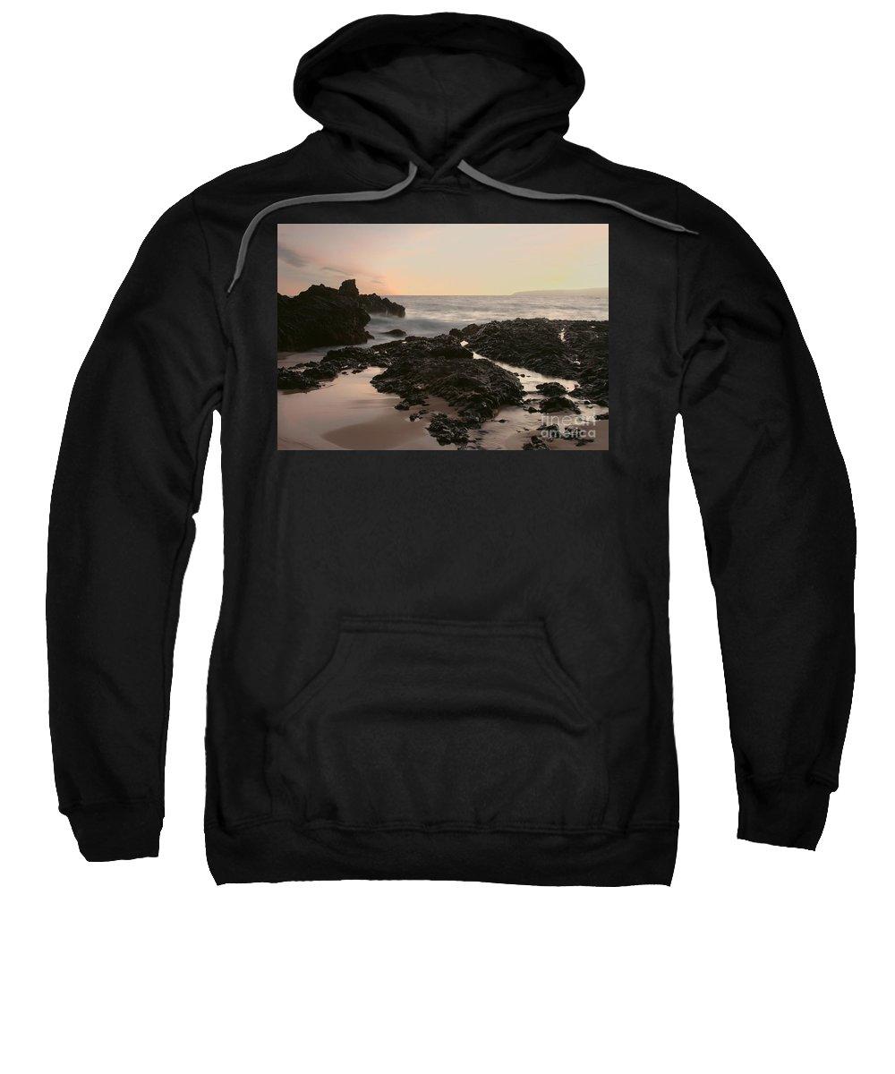 Aloha Sweatshirt featuring the photograph Aloha Paako Akahi Sunset Makena Maui Hawaii by Sharon Mau