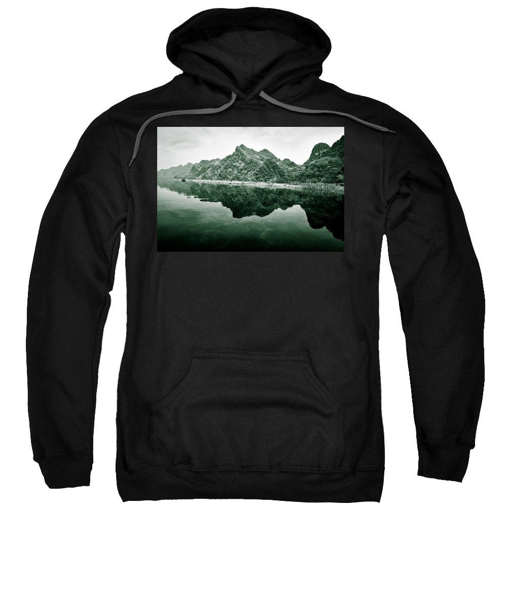 Yen Sweatshirt featuring the photograph Along The Yen River by Dave Bowman