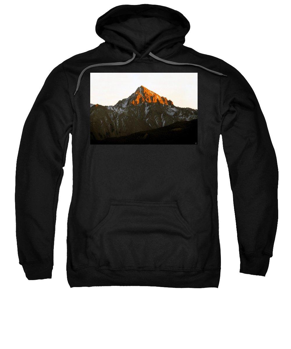 Alpine Glow Sweatshirt featuring the painting Alpine Glow by David Lee Thompson