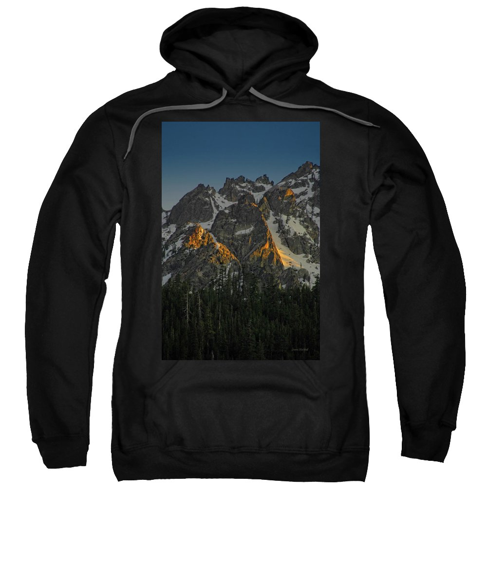 Mountan Sweatshirt featuring the photograph Alpine Glow by Donna Blackhall
