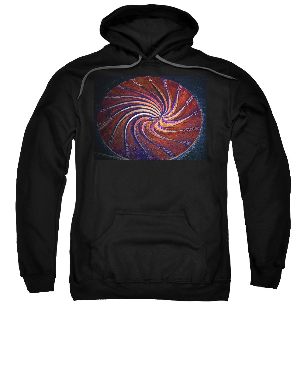 Abstract Sweatshirt featuring the digital art Alternate Reality - Timespeed by Lenore Senior