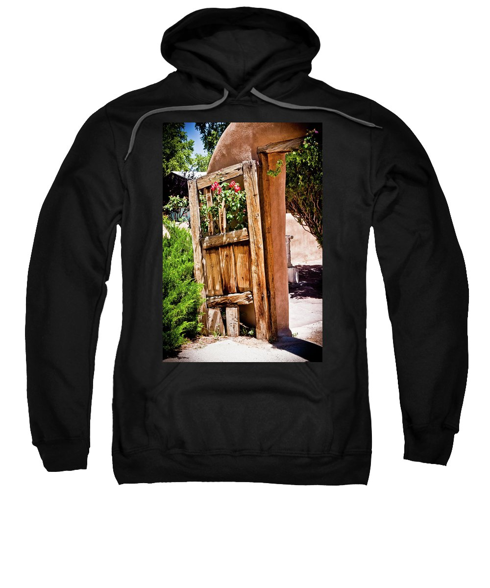 Old Wooden Doors Sweatshirt featuring the photograph Always Open by Jill Smith