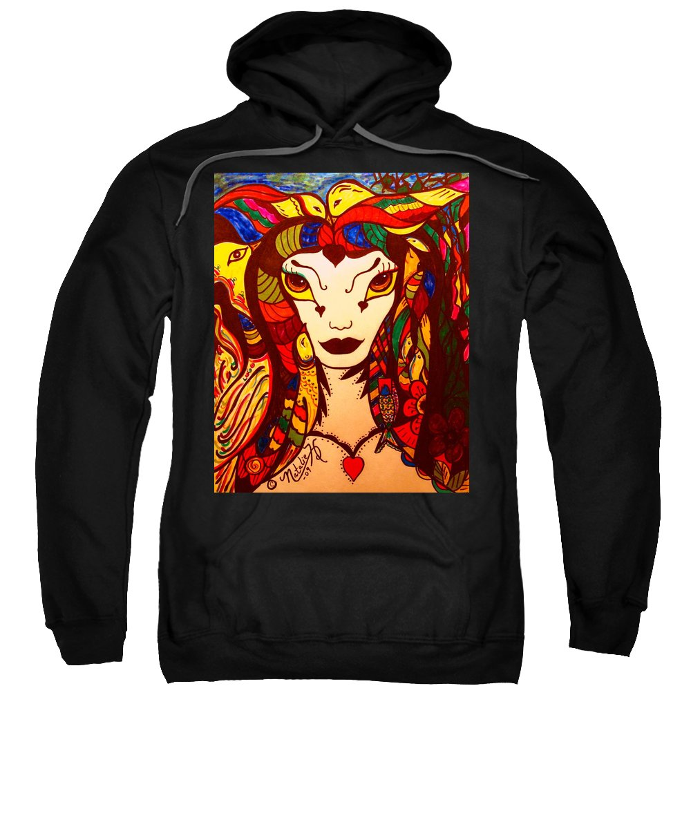 Fantasy Sweatshirt featuring the painting Amazon Queen by Natalie Holland